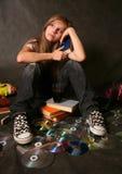 Menina com o livro Imagem de Stock Royalty Free