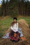 Menina com o livro Foto de Stock Royalty Free