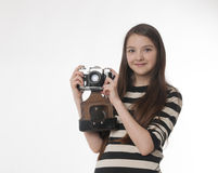 Photokamera velho Fotos de Stock