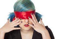 Menina com olhos de olhos vendados Imagem de Stock Royalty Free