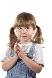 Menina com olhos engraçados Imagens de Stock Royalty Free