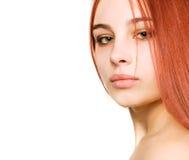 Menina com olhos verdes Fotografia de Stock Royalty Free