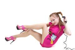 Menina com ondulação Imagem de Stock Royalty Free