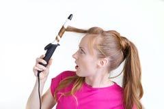 Menina com ondulação Imagem de Stock