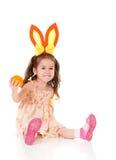 Menina com orelhas de coelho Imagem de Stock Royalty Free