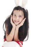 Menina com orelhas de coelhos Foto de Stock