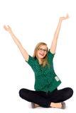 Menina com os braços levantados Imagens de Stock Royalty Free