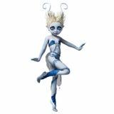 Menina com os chifres que dançam 2 Fotografia de Stock Royalty Free