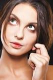 Menina com os olhos verdes grandes Foto de Stock