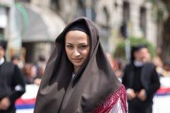 Menina com os trajes típicos sardos Fotos de Stock Royalty Free