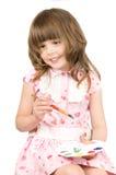 Menina com paleta imagem de stock