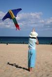 Menina com papagaio Imagem de Stock