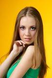 Menina com pele saudável fotografia de stock royalty free