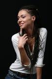 A menina com pigtails Imagens de Stock Royalty Free