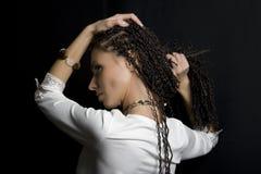 A menina com pigtails Fotografia de Stock Royalty Free