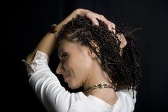 A menina com pigtails Foto de Stock