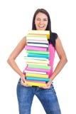 Menina com pisc dos livros Imagem de Stock Royalty Free