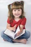 Menina com planejador do dia Imagem de Stock