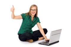 Menina com polegares acima fotos de stock royalty free