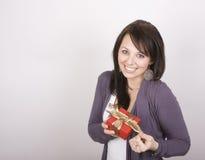 Menina com presente Imagem de Stock Royalty Free
