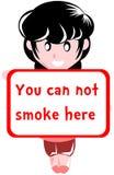 Menina com proibição de fumar Fotografia de Stock Royalty Free