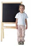 Menina com quadro-negro Foto de Stock
