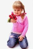 Menina com radish Imagem de Stock Royalty Free