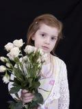 Menina com rosas Imagem de Stock Royalty Free