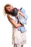 Menina com roupa nova fotos de stock royalty free