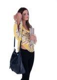 Menina com saco Fotografia de Stock Royalty Free