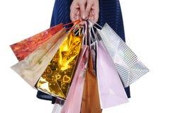 Menina com saco de compra Imagens de Stock Royalty Free