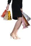 Menina com saco de compra Fotografia de Stock