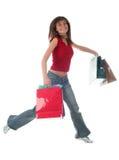 Menina com sacos de compra Fotografia de Stock Royalty Free
