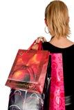 Menina com sacos de compra Imagem de Stock Royalty Free