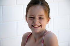 Menina com sardas Imagens de Stock Royalty Free