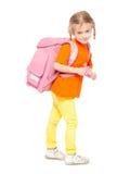 Menina com schoolbag Foto de Stock