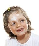 Menina com smallpox Imagens de Stock Royalty Free