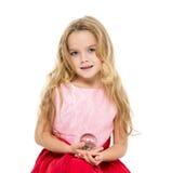 Menina com sonhos mágicos da bola foto de stock royalty free