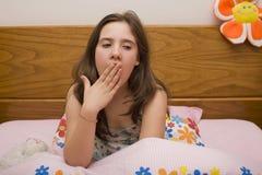 Menina com sono imagens de stock