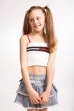 Menina com sorriso bonito Imagens de Stock Royalty Free