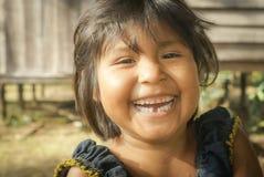 Menina com sorriso bonito em Bolívia Fotografia de Stock Royalty Free