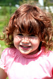 Menina com sorriso grande Imagens de Stock Royalty Free