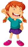 Menina com sorriso grande Fotografia de Stock Royalty Free
