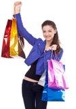 Menina com suas compras. Imagens de Stock Royalty Free