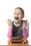 Menina com sushi Imagem de Stock Royalty Free