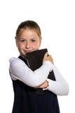 A menina com a tabuleta Fotografia de Stock