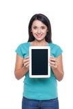 Menina com tabuleta digital Fotos de Stock Royalty Free