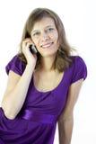 A menina com telefone Foto de Stock Royalty Free
