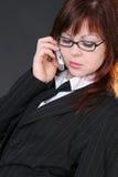 Menina com telefone móvel Imagens de Stock