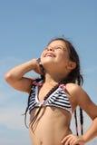 Menina com telefone móvel Fotos de Stock Royalty Free